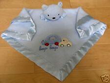 Carters Beep Beep Blue Car Bear /Dog Security Blanket