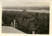 PHOTO ANCIENNE - VINTAGE SNAPSHOT - NEW YORK GRATTE CIEL BUILDINGS TOIT-USA ROOF