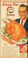 "1950's Vintage ad for Armour Star Turkey/Steve Allen ""Tonight""NBC-TV (042613)"