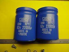 22000MFD 63VOLT NIPPON CAPACITOR SET FOR HAFLER DH-120 MANY OTHERS