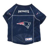 New England Patriots NFL Little Earth V-Neck Pet Mesh Dog Jersey Sizes XS-XL