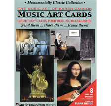 Monumentally Classic Collection Music Art Cards - 8 Pk
