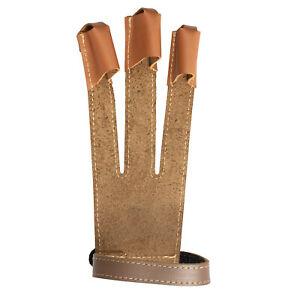 Bear Archery Fred Bear Master Glove Brown Leather - Medium/Large/X-Large