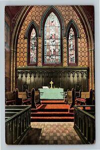 Providence RI, Interior Of Grace Church, Vintage Rhode Island Postcard