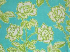 1YD POP GARDEN Wallpaper Roses HB06 Turquoise  Heather Bailey Free Spirit Fabric
