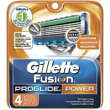 Gillette Fusion Proglide Power Men Razor Blade Refills 4 Count Factory Sealed