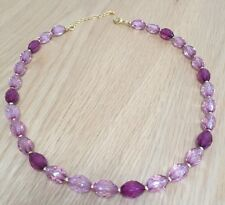 Fashion Single Strand Pink Bead Necklace Max 19 Inches