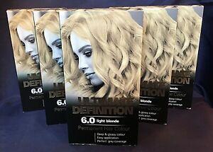ABOXOV 5 x Ultimate Definition 6.0 Light Blonde Permanent Hair Dye Colour