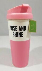 NWT Kate Spade RISE AND SHINE THERMAL MUG 16 oz Travel Cup Coffee Tea Hot Cold