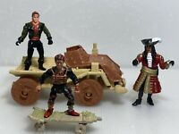 Peter Pan Captain Hook 1991 TriStar Pictures Inc Lot of Figures & Vehicle