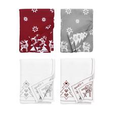 Christmas Table Cloth Cotton Scandi Print 140x230cm
