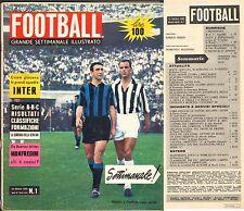 RIVISTA-CALCIO-FOOTBALL-SETTIMANALE ILLUSTRATO-15 OTTOBRE 1959-MANFREDINI-TORINO