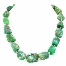Necklace natural Chrysoprase antique gemstone 925 solid sterling silver 129 gram