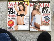 WWE Stacy Keibler Banshee Eliza Dushku Maxim November 2008 March 2009 Topless