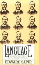 LANGUAGE: An Introduction to The Study of Speech, Sapir PB