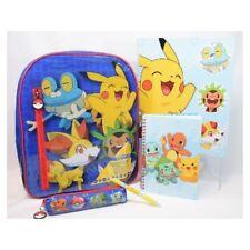 Sac à dos Pokemon Pikachu + 4 accessoires (Classeur, Trousse, Cahier, stylo)1