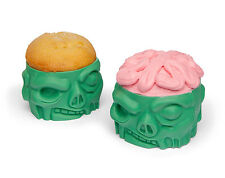 Zombie Baking Cups - Silicone Cupcake Baking Molds  - Set of Four *NEW*