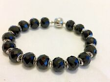 """Authentic Pandora Full Essence Bracelet & Strength Charms In Silver Size 18 7.1"""""""