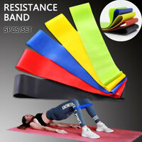 Resistance Bands Exercise Sports Loop Fitness Home Glutes Gym Workout Yoga Latex