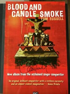 TOM RUSSELL - SIGNED Blood & Candle Smoke Poster
