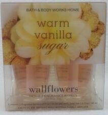2 Bath & Body Works WARM VANILLA SUGAR Wallflower Pack Oil Bulb Refills