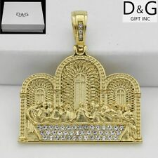 DG Men's Gold.Stainless-Steel,Jesus Last Supper.Charm CZ Pendant Unisex,BOX