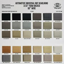 """3/16 Foam Backed Flat Knit Headliner Fabric 60"""" Wide + Adhesive High Temperature"""