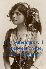 Old VINTAGE Antique BEAUTIFUL GYPSY  Photo Reprint
