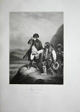 ca. 1850 Napoleon Bonaparte Soldaten Spanien Spain Stahlstich antique print