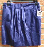 NWT Anne Klein Womens Skirt Size 8 Navy Blue Pencil Office Work Knee