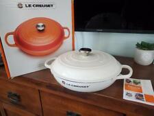 New listing Le Creuset Signature Cast Iron 3.5 Quart Braiser, White > New <