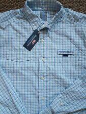 $125 Vineyard Vines Men's Wharf Harbor Shirt Jake long sleeve Size Large NWT