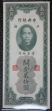 REPUBLIC OF CHINA 1930 - 20 CUSTOM GOLD UNITS - Pick 328 - Very Clean