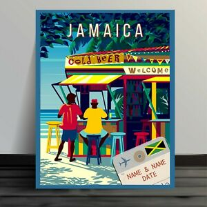 PERSONALISED  JAMAICA HOLIDAY HONEYMOON  ADD YOUR NAME  TS03 Metal Sign
