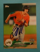 2018 Topps Pro Debut, Greensboro Grasshoppers - BRIAN MILLER - Autograph
