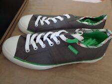 Converse Lady All Star Shoes Charcoal and Green Size 6 Women Brand New