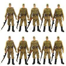 Guarantee 10 Pcs Russian Soldiers Trooper Indiana Jones Figures W/ACCESS Toy L05