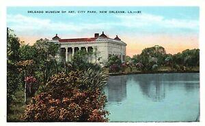 New Orleans, LA, Delgado Museum of Art, City Park, Vintage Postcard a4356
