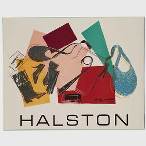 Andy Warhol Rare Vintage 1982 Original Halston (Women's Accessories) Poster