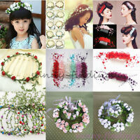 Boho Style Flower Floral Women Hairband Headband Crown Party Bride Wedding Beach