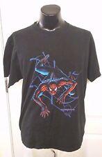 Marvel The Amazing Spider Man Web Logo Black T Shirt XL Movie Cartoon Rare