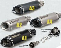 51mm Universal Motorcycle Exhaust Pipe Laser Marking Akrapovic DB killer Muffler