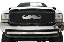 Stainless Steel Grille Badge Emblem for Raptor F150 Jeep Tundra Tacoma MOUSTACHE