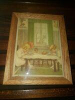 Vintage Kimberly Enterprises Framed Tile Children