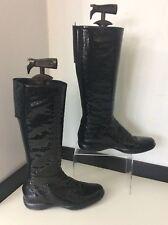 Prada Patent Leather Snakeskin Knee High Boots Size 39 Uk 6 Vgc