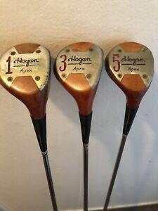Vintage Hogan Persimmon Head Golf Clubs