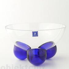 Ajeto Bohemia Crystall mundgeblasene Glasschale Schale postmodern 80s art glass