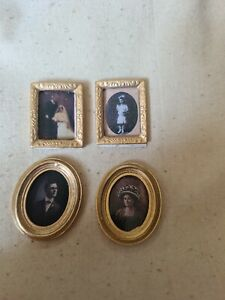 4 Miniature Picture Frames For Dolls House Or Card Making, Craft