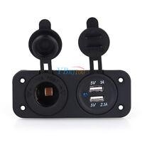 HOT! Dual USB Car Cigarette Lighter Socket Splitter 12V Charger Adapter Outlet