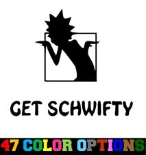 Vinyl Decal Truck Car Sticker Laptop - Rick And Morty Get Schwifty